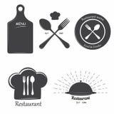 Etichette del ristorante Fotografia Stock