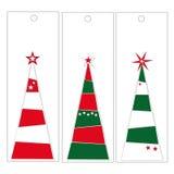Etichette dell'albero di Natale Fotografia Stock