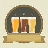 Etichette della birra Fotografia Stock