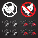 Etichette della carne di pollo Fotografia Stock