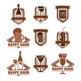 Etichette delle bevande illustrazione di stock