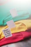 Etichette delle magliette Immagini Stock