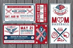 Etichette di baseball Fotografia Stock