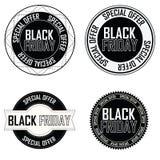 Etichette di Black Friday Fotografia Stock Libera da Diritti