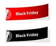 Etichette di Black Friday Fotografie Stock