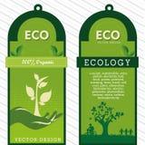 Etichette di Eco Fotografie Stock Libere da Diritti