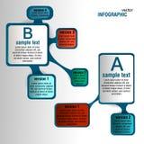Etichette di Infographic con le opzioni illustrazione di stock