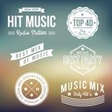 Etichette di musica illustrazione di stock