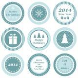 Etichette di Natale Immagine Stock