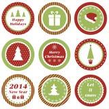 Etichette di Natale Fotografia Stock