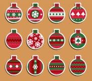 Etichette di Natale Fotografia Stock Libera da Diritti