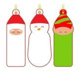 Etichette di Natale Immagini Stock