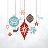 Etichette di Natale - ornamenti, decorazioni Immagine Stock