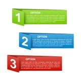 Etichette di opzione della carta di colore di vettore Immagini Stock