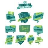 Etichette di origami di estate Fotografia Stock