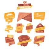 Etichette di origami di estate Immagini Stock