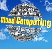 Etichette di parola di tecnologia di computazione della nuvola Immagine Stock Libera da Diritti