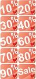 Etichette di percentuale Immagine Stock Libera da Diritti