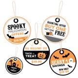 Etichette di prezzo al dettaglio di Halloween Immagine Stock Libera da Diritti