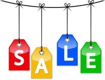 Etichette di prezzo di vendita Fotografie Stock Libere da Diritti