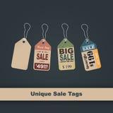 Etichette di prezzo di vendita Fotografia Stock Libera da Diritti