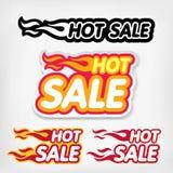 Etichette di ribasso dei prezzi Concetto caldo di vendita Fotografie Stock Libere da Diritti