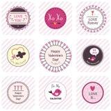 Etichette di San Valentino Fotografia Stock Libera da Diritti