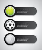 Etichette di sport Fotografie Stock Libere da Diritti
