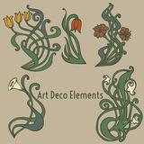 Etichette di stile sugli argomenti differenti per la decorazione e la progettazione Fotografia Stock Libera da Diritti