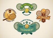 Etichette di tennis Immagine Stock