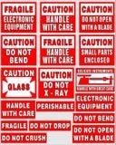 Etichette di trasporto illustrazione vettoriale