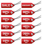 Etichette di vendita Immagine Stock Libera da Diritti