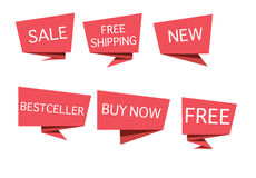 Etichette di vendita Immagine Stock