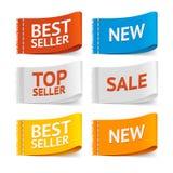 Etichette di vendita dell'abbigliamento del tessuto Vettore royalty illustrazione gratis