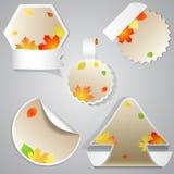 Etichette di vendita di autunno Immagine Stock Libera da Diritti
