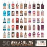 Etichette di vendita di estate Fotografia Stock Libera da Diritti