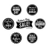 Etichette di vendita di festa del papà Fotografia Stock Libera da Diritti