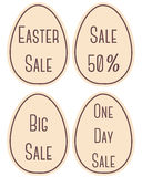 Etichette di vendita di Pasqua Fotografia Stock