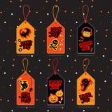 Etichette di vendita di Halloween Fotografia Stock