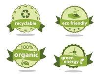 Etichette di verde Illustrazione di Stock