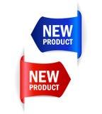 Etichette di vettore del nuovo prodotto Fotografia Stock