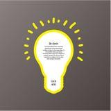 Etichette di vettore della lampadina. Modello moderno con spazio per il vostro co illustrazione di stock