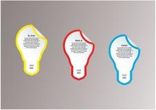 Etichette di vettore della lampadina. Modello moderno con spazio per il vostro co illustrazione vettoriale