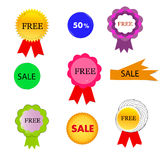 Etichette differenti /icons di vendite Fotografia Stock
