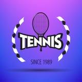 Etichette e distintivi di tennis Fotografia Stock Libera da Diritti
