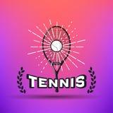 Etichette e distintivi di tennis Fotografia Stock