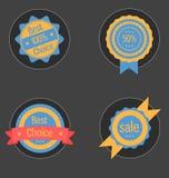 Etichette ed etichette colorate Può essere usato per il infographics, siti Web illustrazione vettoriale