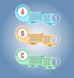 Etichette ed etichette colorate Può essere usato per il infographics, siti Web royalty illustrazione gratis