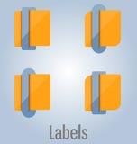 Etichette ed etichette colorate Può essere usato per il infographics, siti Web illustrazione di stock