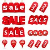 Etichette ed insegne di vendita Immagini Stock Libere da Diritti